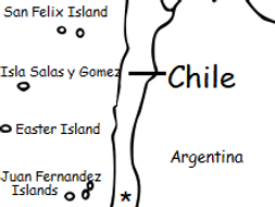 CHILE - printable handout with map and flag