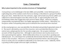 trainspotting essay by poetryessay teaching resources tes assessment essay trainspotting