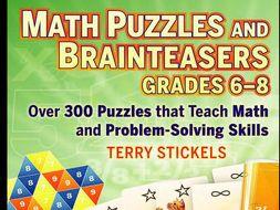 Math Puzzles and Games, Grades 6-8