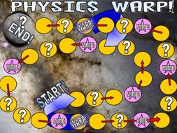 PHYSICS WARP! GCSE SCIENCE REVISION QUIZ BOARD GAME!