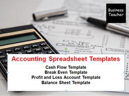 accounting templates break even spreadsheet cash flow spreadsheet