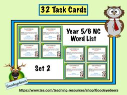 Year 5/6 Word List - 32 Task Cards - Set 2