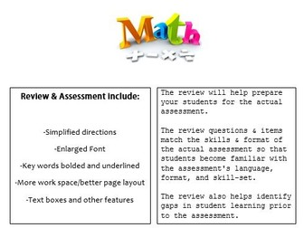 Grade 6, Math Module 3 REVIEW & ASSESSMENT w/Ans keys (printables & Smart Board)