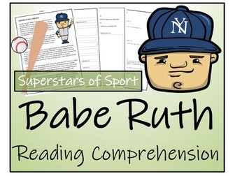 UKS2 History - Babe Ruth Reading Comprehension Activity