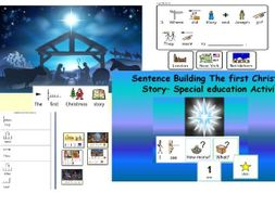 The first Christmas Story ppt and activities widgit symbolised