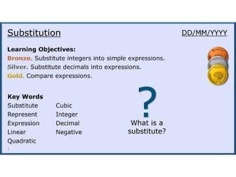 Algebra 13/31 Substitution
