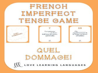 GCSE FRENCH: French Imperfect Tense - Quel Dommage Game