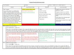 Spring 1 Maths Planning Numeracy EYFS Recepion