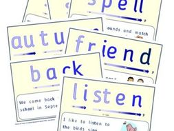 Phonics for SEN: Word of the Week Posters - Autumn Term (UK)