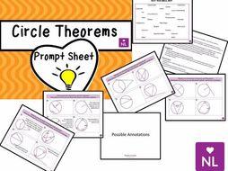 Circle Theorems Prompt Sheet