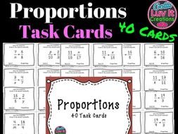 Proportions - 40 Task Cards