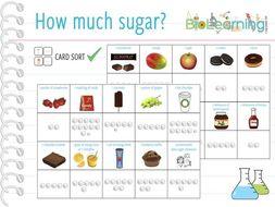 How much sugar? - Card Sort (KS3/4)