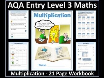 Multiplication: AQA Entry Level 3 Maths