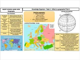 KS3 Progress in Geography Knowledge Organisers