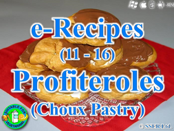11. Choux Pastry - Profiteroles (e-Recipe)