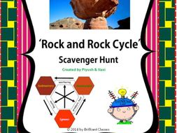 Rock and Rock Cycle Scavenger Hunt - An Activity