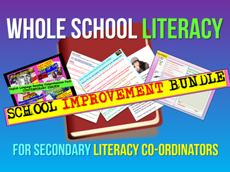 Whole School Literacy Improvement Pack