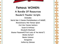 Women's History: A Bundle of TEN Reader's Theater Scripts