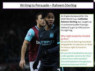 Writing to Persuade - Football