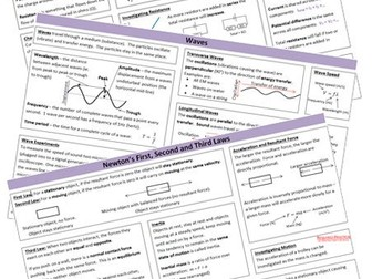 AQA (new) Physics Combined Science Revision Sheets