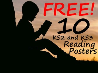 10 FREE Reading Posters For Every Key Stage 2 or Key Stage 3 Classroom! Download and Share Today!