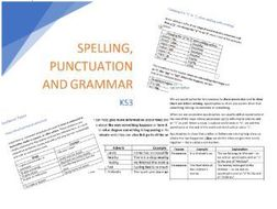 Spelling punctuation and grammar booklet: KS2/KS3