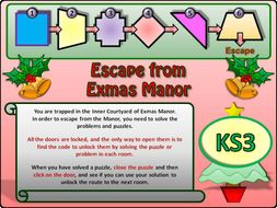 Christmas Maths Escape Room KS3