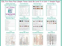 Past Simple Tense Verb Be Level 2-A Unit 1