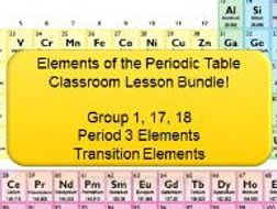 Elements of the periodic table lesson bundle 36 slides 4 elements of the periodic table lesson bundle 36 slides 4 worksheets with over urtaz Image collections