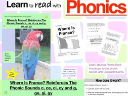 Where Is France? Reinforces The Phonic Sounds c, ce, ci, cy, g, ge, gi and gy (Learn To Read...)