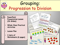 division grouping powerpoint presentation lesson plan and