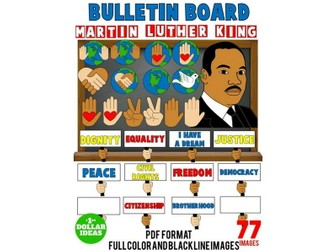 MARTIN LUTHER KING JR BULLETIN BOARD | MARTIN LUTHER KING ACTIVITIES | MLK | 77