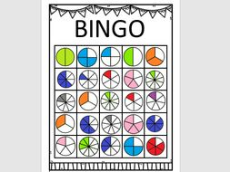 fraction bingo game revision or introduction to fractions by soxsones2 teaching resources. Black Bedroom Furniture Sets. Home Design Ideas