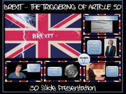 Brexit: The Triggering of Article 50