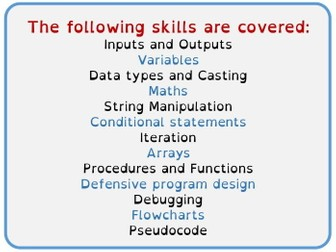 29 Python Skill Building Lessons with Assessments