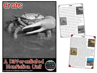 Differentiated Nonfiction Unit: Crabs
