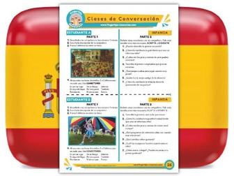 Infancia - Spanish Speaking Activity