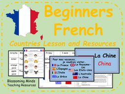 French lesson and resources - KS2 - Countries