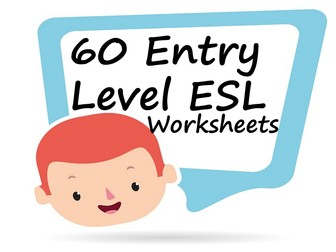 60 Entry Level Grammar worksheets for English lessons and ESL with answers