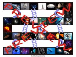 Space and Astronomy Chutes and Ladders Board Game