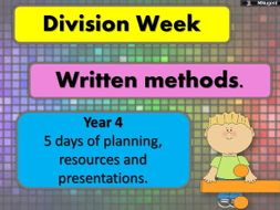 Written Division Methods. Year  4