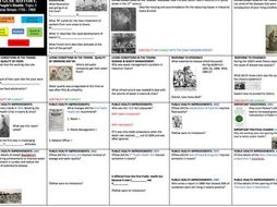 'TOPIC ON A PAGE' OCR GCSE 9-1,SHP History B THE PEOPLE's HEALTH Key Topic  3 INDUSTRIAL BRITAIN