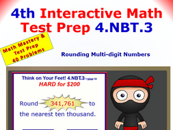 4.NBT.3 Math Interactive Test Prep – Round Up or Down for 4th Grade