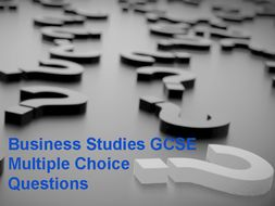 Business Studies GCSE (EDEXCEL) Multiple choice questions and definitions
