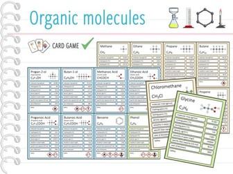 Organic molecules - Card Game (KS4/5)