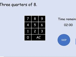 Fractions of a quantity  interactive IWB starter