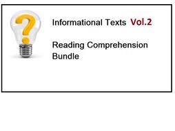 Informational Texts Vol 2 - Reading Comprehension Worksheets - Bundle (SAVE 85%)