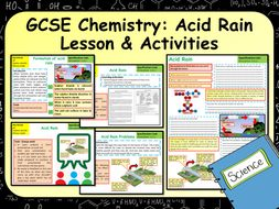 KS4 AQA GCSE Chemistry (Science) Acid Rain Lesson & Activites