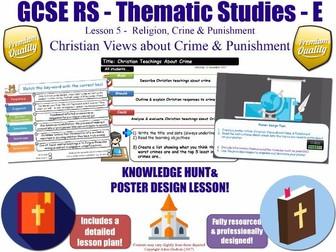 Christian Teachings About Crime & Criminals  [GCSE RS - Religion, Crime & Punishment L5/10] Theme E