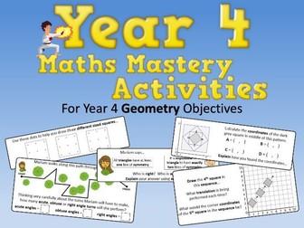 Geometry Mastery Activities – Year 4